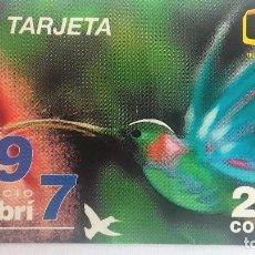 Tarjetas telefónicas de colección: TARJETA TELEFONICA DE COSTA RICA COLIBRI . Lote 96024275