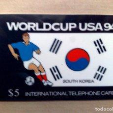 Tarjetas telefónicas de colección: TARJETA TELEFONICA INTERNATIONAL (5$) KOREA DEL SUR-WORLD CUP USA '94-EDICIÓN LIMITADA (DESCRIPCIÓN). Lote 96834343