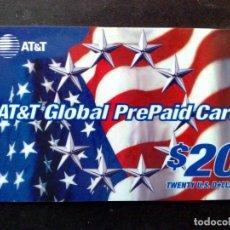 Tarjetas telefónicas de colección: TARJETA TELEFONICA-AT&T GLOBAL PREPAID CARD $20 USA,USADA. Lote 97619371