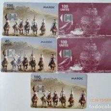 Tarjetas telefónicas de colección: TARJETAS TELEFONICAS MARRUECOS, USADAS,. Lote 97948911