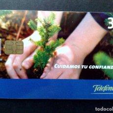 Tarjetas telefónicas de colección: ESPAÑA:TARJETA TELEFONICA-CUIDAMOS TU CONFIANZA,NOMINAL 3€,AÑO 2002-USADO. Lote 98440047