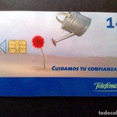 Tarjetas telefónicas de colección: ESPAÑA:TARJETA TELEFONICA-CUIDAMOS TU CONFIANZA,NOMINAL 1€,AÑO 2003-USADO. Lote 98441227