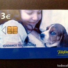 Tarjetas telefónicas de colección: ESPAÑA:TARJETA TELEFONICA-CUIDAMOS TU CONFIANZA,TIRADA 5.500EX.,NOMINAL 3€,AÑO 2004-USADO. Lote 98441491
