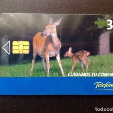 Tarjetas telefónicas de colección: ESPAÑA:TARJETA TELEFONICA-CUIDAMOS TU CONFIANZA,NOMINAL 3€,AÑO 2006-USADO. Lote 98441955