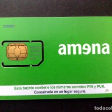Tarjetas telefónicas de colección: ESPAÑA:TARJETA TELEFONICA-G.S.M.,AMENA-CHIP OVAL GEMPLUS 64K,SIN USAR. Lote 98447367