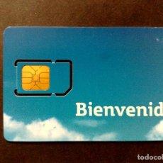 Tarjetas telefónicas de colección: ESPAÑA:TARJETA TELEFONICA-MOVISTAR BIENVENIDO,128KB,PIN Y PUK SIN RASCAR AL DORSO.. Lote 98448683