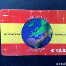 Tarjetas telefónicas de colección: TARJETA TELEFONICA INTERNATIONAL-CALLING CARD,2000 PTS.-SIN USAR. Lote 99640751