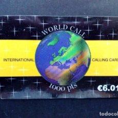 Tarjetas telefónicas de colección: TARJETA TELEFONICA INTERNATIONAL-CALLING CARD,1000 PTS.-SIN USAR. Lote 99640807
