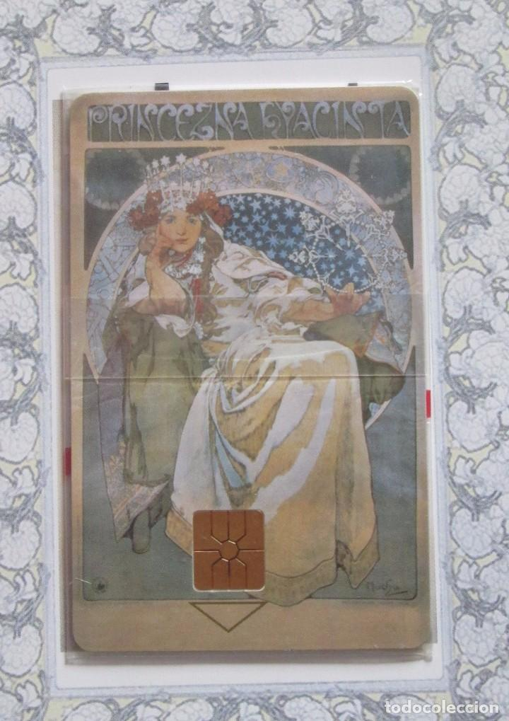 TARJETA TELEFONICA SIN USO, MUCHA MUSEO, PRAGA (Coleccionismo - Tarjetas Telefónicas)