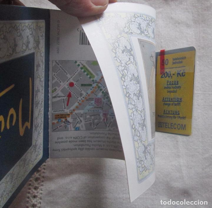 Tarjetas telefónicas de colección: Tarjeta telefonica sin uso, Mucha Museo, Praga - Foto 5 - 100056383