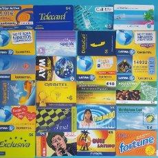 Tarjetas telefónicas de colección: COLECCION DE 24 TARJETAS PREPAGO. Lote 101135331