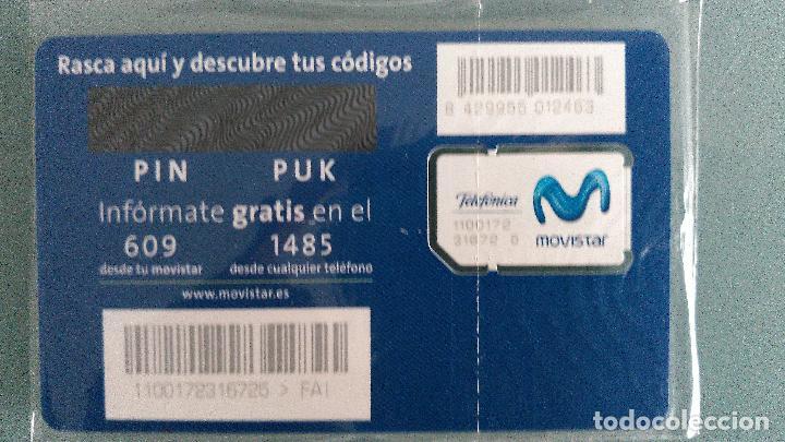 Tarjetas telefónicas de colección: tarjeta nueva movistar gsm fai (VER PARTE POSTERIOR) - Foto 2 - 101139954