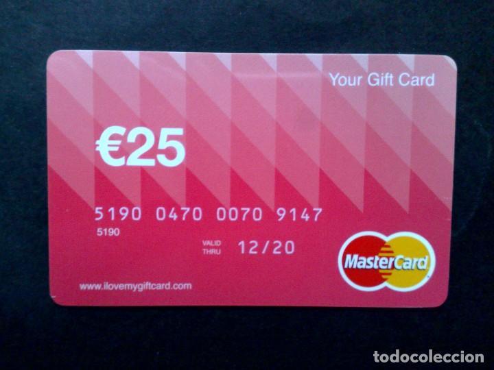 TARJETA MASTERCARD-GIFT CARD 25€,USADO. (Coleccionismo - Tarjetas Telefónicas)