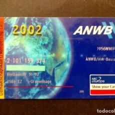 Tarjetas telefónicas de colección: TARJETA PERSONAL-SOCIO AUTOMOVIL CLUB ANWB,AÑO 2002 (DESCRIPCIÓN). Lote 102142551