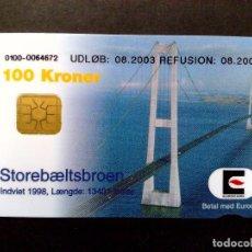 Tarjetas telefónicas de colección: TARJETA PREPAGO-EUROCARD-PUENTE DINAMARCA-SUECIA,2004-USADA. Lote 103573851