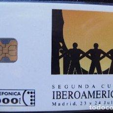 Tarjetas telefónicas de colección: P 003 - CUMBRE IBEROAMERICANA - TIRADA 3.000 - NUEVA -- TARJETA VENDIDA SIN PRECINTO - A051. Lote 103708955