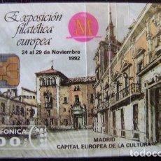 Tarjetas telefónicas de colección: P006 - PLAZA MAYOR FILATELIA 92 - TIRADA 6.000 - NUEVA CON PRECINTO - A053. Lote 103709919