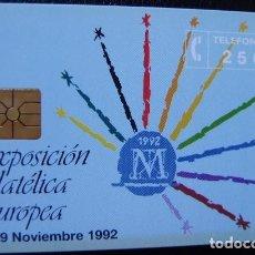 Tarjetas telefónicas de colección: P 07 - FILATELIA 92 DESTELLOS - TIRADA 2.000 NUEVA - TARJETA VENDIDA SIN PRECINTO - A054. Lote 103710247