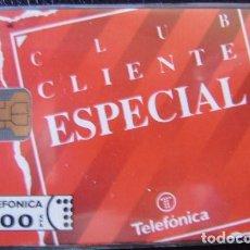 Tarjetas telefónicas de colección: P 08 CLUB CLIENTE ESPECIAL - TIRADA 6.000 NUEVA - TARJETA VENDIDA SIN PRECINTO - A055. Lote 103710939