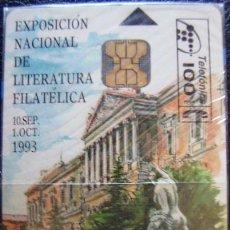 Tarjetas telefónicas de colección: P 21 - EXP. NAC. LITERATURA FILATELICA - TIRADA 2.000 - NUEVA CON PRECINTO - A061. Lote 103714243