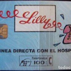 Tarjetas telefónicas de colección: P 36 - LILLY - LINEA DIRECTA CON EL HOSPITAL - NUEVA CON PRECINTO - A066. Lote 103717255