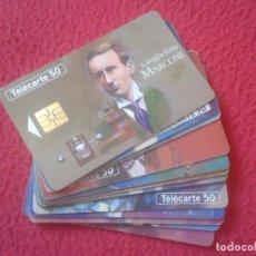 Tarjetas telefónicas de colección: LOTE DE TARJETAS TELEFÓNICAS FRANCE TELECOM PHONE CARD FIGURAS TELECOMUNICACIONES MARCONI MORSE BELL. Lote 103754839