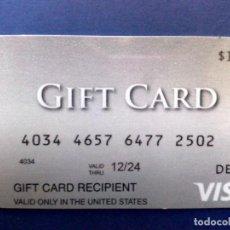 Tarjetas telefónicas de colección: TARJETA VISA-DEBIT-GIFT CARD NO RECARGABLE DE $100,SOLO VALIDO USA-USADA. Lote 104941799