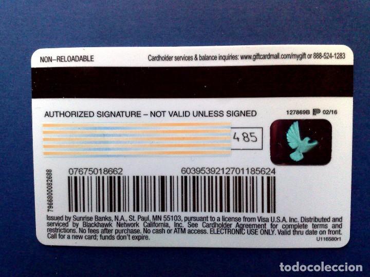 Tarjetas telefónicas de colección: TARJETA VISA-DEBIT-GIFT CARD NO RECARGABLE DE $100,SOLO VALIDO USA-USADA - Foto 2 - 104941799