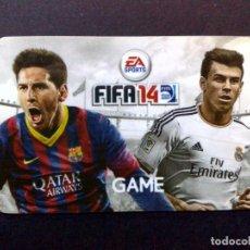 Tarjetas telefónicas de colección: TARJETA-GAME GIFT CARD-EA-SPORTS-FIFA 14-MESSI-BALE-SIN USAR (DESCRIPCIÓN). Lote 106120415