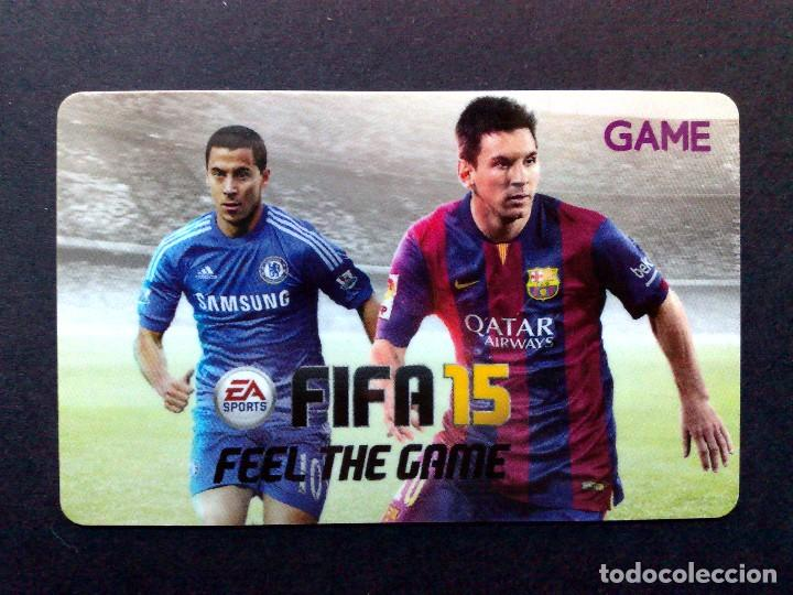 TARJETA-GAME GIFT CARD-EA-SPORT-FIFA 15-MESSI-SIN USAR (Coleccionismo - Tarjetas Telefónicas)