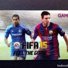 Tarjetas telefónicas de colección: TARJETA-GAME GIFT CARD-EA-SPORT-FIFA 15-MESSI-SIN USAR. Lote 106685335
