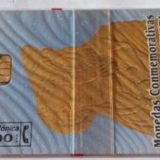 Tarjetas telefónicas de colección: TARJETA TELEFÓNICA DE 100 PTA. MONEDAS CONMEMORATIVAS CULTURA Y NATURALEZA SERIE 2. CON BLISTER. Lote 87021756