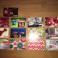 Tarjetas telefónicas de colección: LOTE 13 TARJETAS REGALO IKEA. Lote 108914968