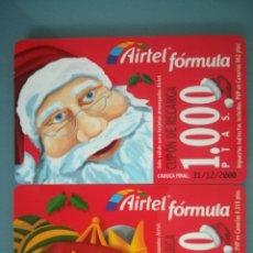 Cartões de telefone de coleção: 2 TARJETAS DE RECARGA DE AIRTEL. Lote 147098102