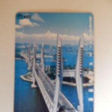 Tarjetas telefónicas de colección: TARJETA TELEFÓNICA DE JAPÓN NTT - 105 - TEMÁTICA: PUENTES - BLUE MARINE. Lote 112140183