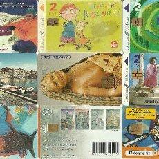 Tarjetas telefónicas de colección: LOTE 9 TARJETAS TELEFONICAS. Lote 112512703