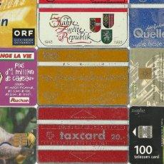 Tarjetas telefónicas de colección: LOTE 9 TARJETAS TELEFONICAS. Lote 112799211