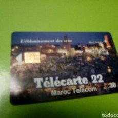 Tarjetas telefónicas de colección: TARJETA TELEFONICA MARRUECOS MAROC TELECOM FOTO ZOCO ARABE NOCTURNO. Lote 113428951