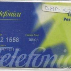 Tarjetas telefónicas de colección: TARJETA PERSONAL. Lote 118065903