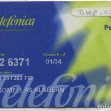 Tarjetas telefónicas de colección: TARJETA PERSONAL. Lote 118066091