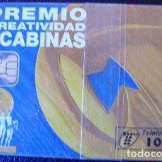 Tarjetas telefónicas de colección: PREMIO CREATIVIDAD EN GABINAS - P 122 - USADA 1ª CALIDAD - A539. Lote 119059471