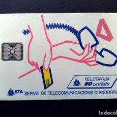 Tarjetas telefónicas de colección: ANDORRA:006:TARJETA TELEFONICA-LOGO PTO VENTA (DESCRIPCIÓN). Lote 120670887