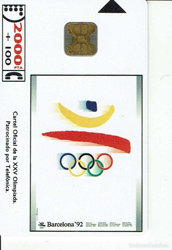 TARJETA TELEFONICA CP- 012 JJOO BARCELONA 92 ESPAÑA (Coleccionismo - Tarjetas Telefónicas)