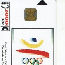 Tarjetas telefónicas de colección: TARJETA TELEFONICA CP- 012 JJOO BARCELONA 92 ESPAÑA. Lote 121316555