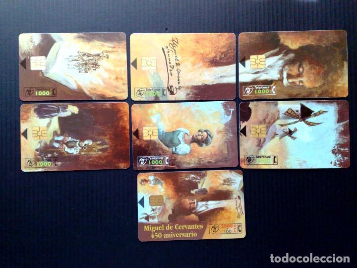 Tarjetas telefónicas de colección: ESPAÑA:LOTE DE 7 TARJETAS TELEFONICAS-SERIE COMPLETA DE CERVANTES-450 ANIVERSARIO - Foto 2 - 121510119