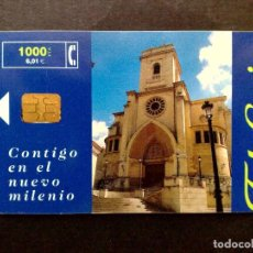 Cartes Téléphoniques de collection: ESPAÑA:TARJETA TELEFONICA-PHONECARD-CONTIGO EN EL NUEVO MILENIO-VINTAGE. Lote 144926454