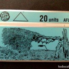Tarjetas telefónicas de colección: TARJETA TELEFONICA CON BANDA OPTICA-ARUBA-DIVI-DIVI-TREE (20 UNITS) SIN USAR-VINTAGE. Lote 124601387