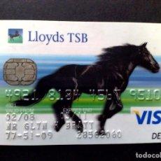 Tarjetas telefónicas de colección: TARJETA VISA DEBIT-LLOYDS BANK T.S.B. (DESCRIPCIÓN). Lote 124708823