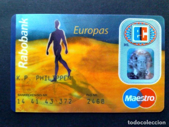 TARJETA MAESTRO-EUROCARD-EUROPAS-RABOBANK (DESCRIPCIÓN) (Coleccionismo - Tarjetas Telefónicas)