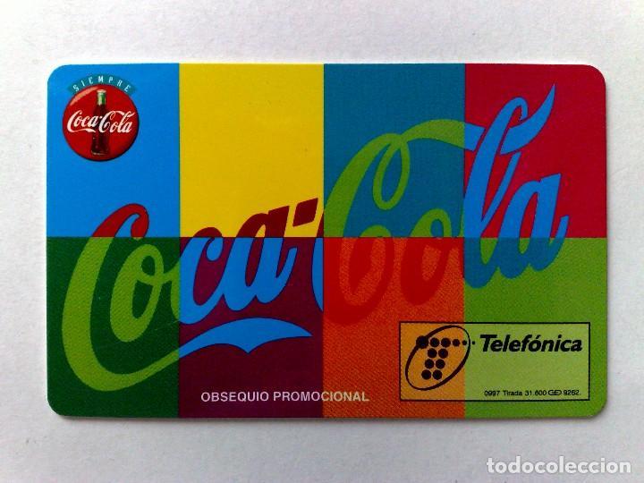 Tarjetas telefónicas de colección: P-289;TARJETA TELEFONICA-COCA~COLA-MOSAICO ¡¡ENSAYO!! SIN CHIP Y FALTA NÚMERACIÓN-DESCRIPCIÓN - Foto 3 - 126230323